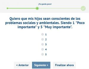 correos sampling preguntas categorias