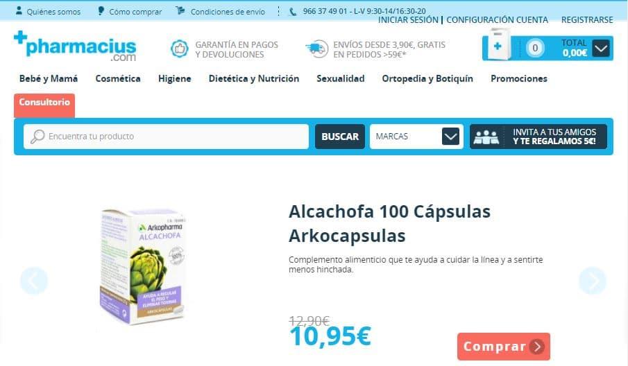 pharmacius codigos promocionales